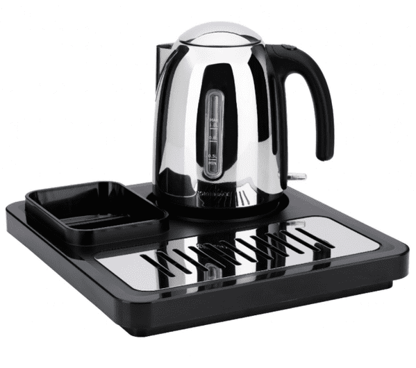 Regal Hotel Welcome Tray | Chrome Hotel Kettle | Hotel Supplies